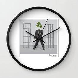 Elvis Parsley Wall Clock