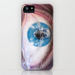 Death in the eyes iPhone Case