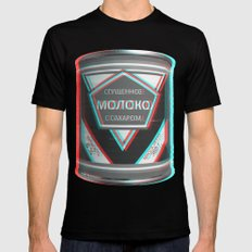 Condensed Milk (Sgushchennoye Moloko)  3D SMALL Mens Fitted Tee Black