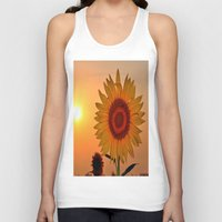 sunflower Tank Tops featuring sunflower by  Agostino Lo Coco