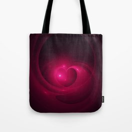 Here Is My Heart Fractal Tote Bag