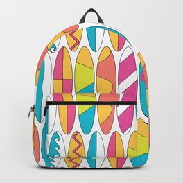 Mini Rainbow Colored Waikiki Surfboards Backpack