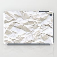 anonymous iPad Cases featuring White Trash by pixel404