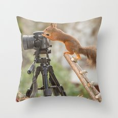 quirrel the photographer Throw Pillow