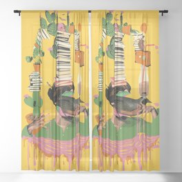 SURREAL KNOWLEDGE Sheer Curtain