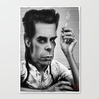 nick cave Canvas Prints featuring Nick Cave by AndreKoeks