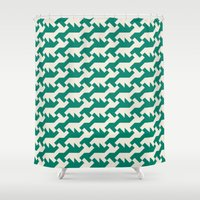nintendo Shower Curtains featuring Nintendo .green by guapa.