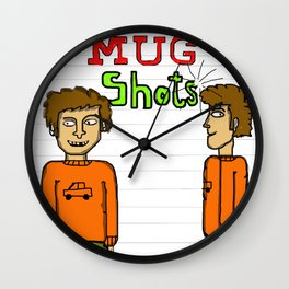 Mug Shot 1 Wall Clock