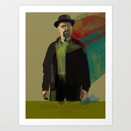 Bryan Cranston Art Print