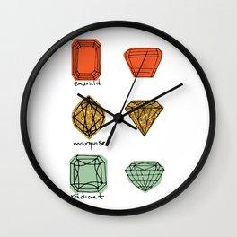 Fancy Jewels Illustration Two Wall Clock