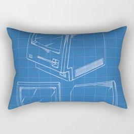 Apple Macintosh Patent - Apple Art - Blueprint Rectangular Pillow