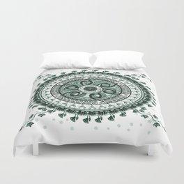 Classical Circle Turquoise Mandala Duvet Cover