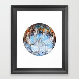 Colored Sphere Framed Art Print