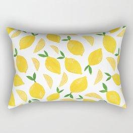 Lemon Cut Out Pattern Rectangular Pillow