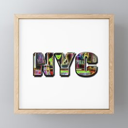 NYC (typography) Framed Mini Art Print