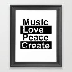 MLPC Grunge Framed Art Print