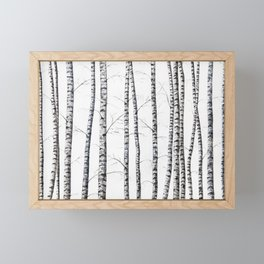 Birch trees Framed Mini Art Print