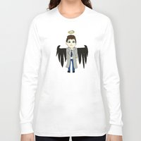 castiel Long Sleeve T-shirts featuring Castiel by Chrizzy0789
