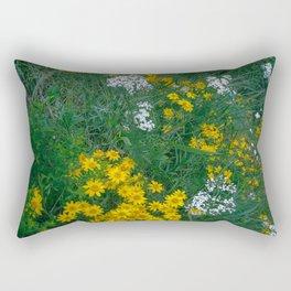 Flowers On the Edge Rectangular Pillow