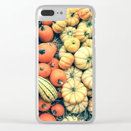 Pumpkins Clear iPhone Case