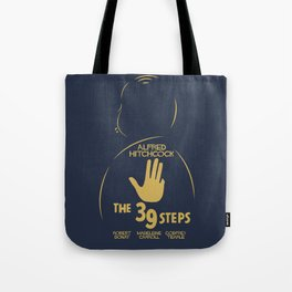 The 39 steps, Alfred Hitchcock, minimal movie poster, english film, b&w alternative affiche, cinema Tote Bag