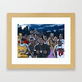 Rap warriors Framed Art Print