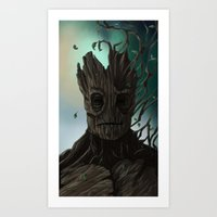 groot Art Prints featuring Groot by ssst