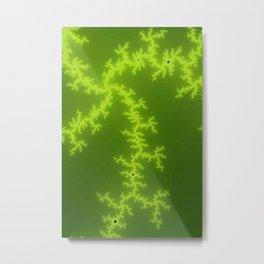 Green Fractal Metal Print