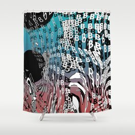 For Type Lovers. B for bubbles. Shower Curtain