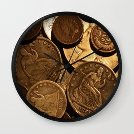 Cool Old Coins Wall Clock