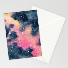 Pink Yellow Galaxy (Lesley's Galaxy) Stationery Cards