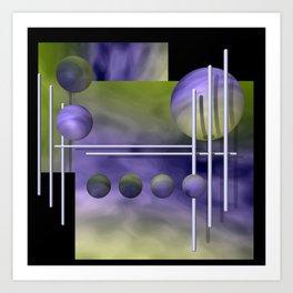 liking geometry -3- Art Print