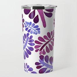 Pink leaves painting Travel Mug