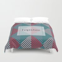 hipster Duvet Covers featuring Hipster by eARTh