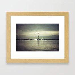 Poolbeg Chimneys Dublin 2017 Framed Art Print