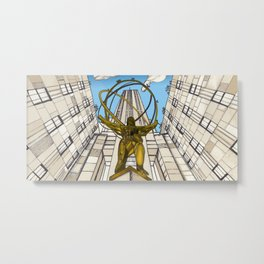 Atlas at Rockefeller Metal Print