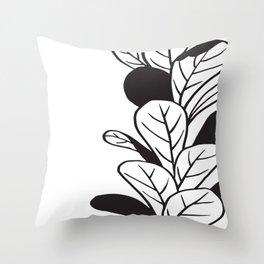 Plant and Pot Throw Pillow