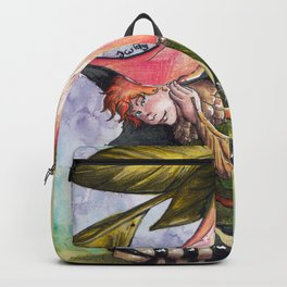 Fairy hiding under angel trumpet Backpack