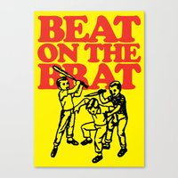 ramones Canvas Prints featuring Beat on the Brat by Sellergren Design - Art is the Enemy