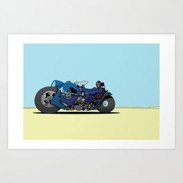 dredd bikez Art Print