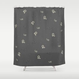 Leo Pattern Shower Curtain