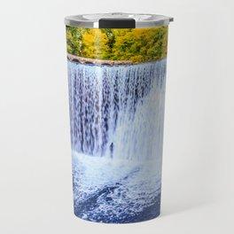 Monk's waterfall Travel Mug