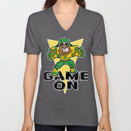 Game ON Rugby Sports Awesome Player TouchDown Hooker Unisex V-Neck