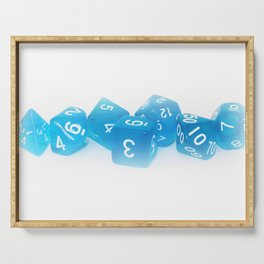 Blue Gaming Dice Serving Tray