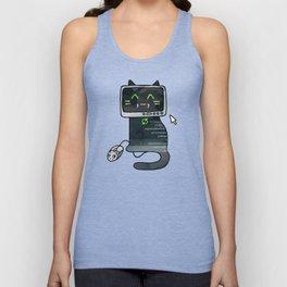 Programmer cat  makes a website Unisex Tank Top