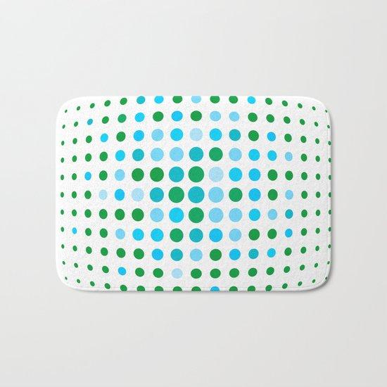 Green and blue optic Bath Mat
