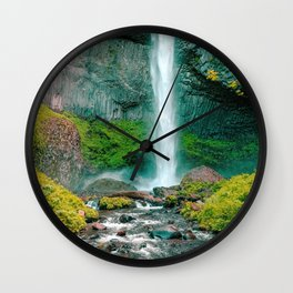 Latourell Falls Oregon United States Ultra HD Wall Clock