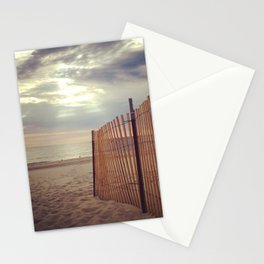 beach fence Stationery Cards