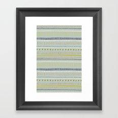 Teal & Green Pattern Framed Art Print