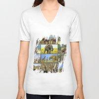 wildlife V-neck T-shirts featuring Wildlife by Karl-Heinz Lüpke